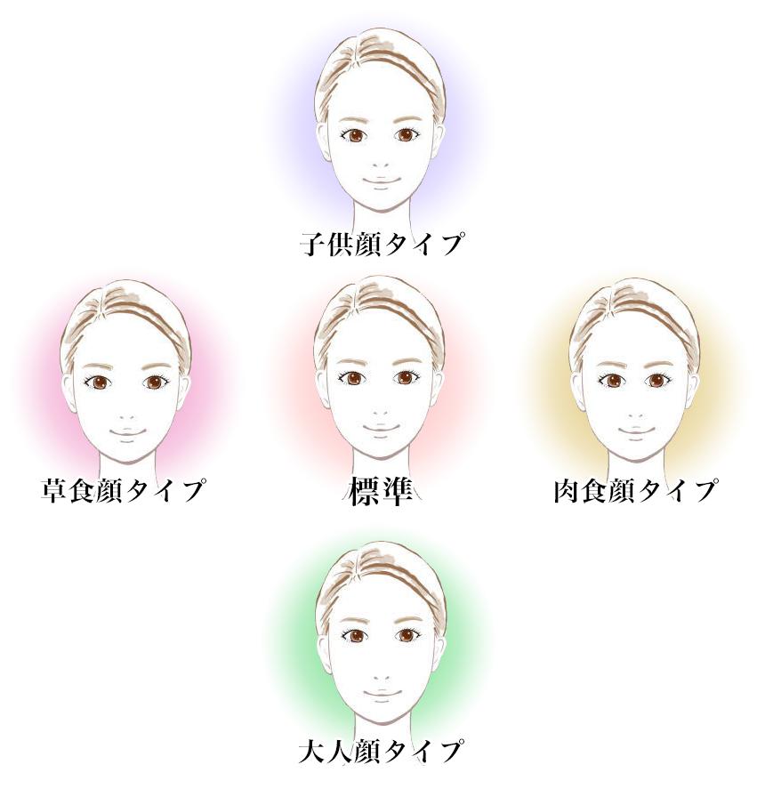 顔タイプの分類